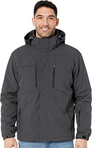 Free Country Men's Color Block 3 Layer Soft Shell, Zinc Grey, XX-Large