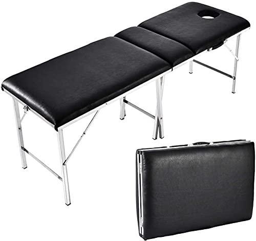 BUSUANZI Table de Massage Mobile, Table de Massage Pliante et Portable avec 3 Zones