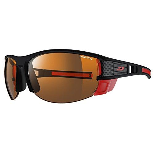 Julbo Makalu - Gafas de sol para hombre, color negro mate y rojo