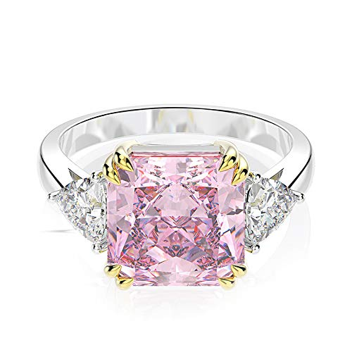 Mossan Stone Ring Simulatie Diamanten Ring Vrouw Een Karaat Van Pure Zilver Ring Nummer 7 1 caraat sneeuwvlok