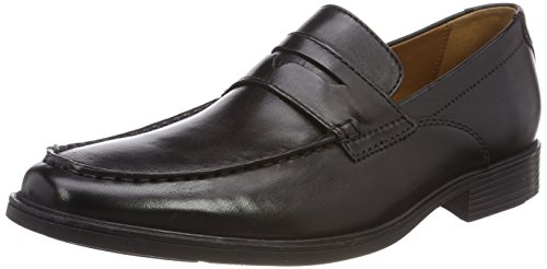 Clarks Tilden Way, Mocassini Uomo, Nero (Black Leather-), 44 EU