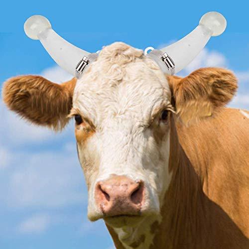 Mumusuki Round Cornered Silicone Calf Cattle Bull Cow Horn Anti-Fight Protective Cover Protector Farm Accessory