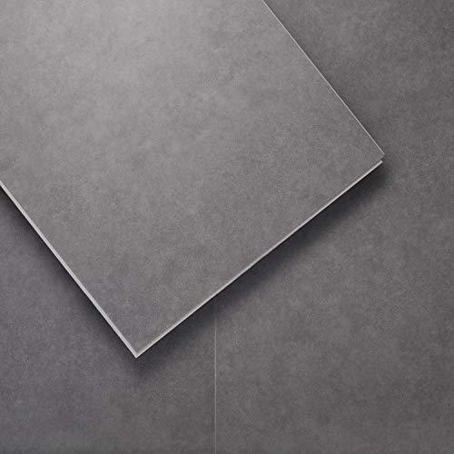 LUCiDA SURFACES Luxury Vinyl Flooring Tiles-Interlocking Flooring for DIY Installation-8 Stone-Look Planks-Holland Gray-TerraCore-16 Sq. Feet
