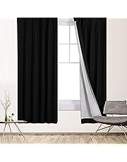 Deconovo 1級遮光 99.9%遮光率 ドレープカーテン 断熱 遮熱 節電対策 昼夜目隠し 2枚組