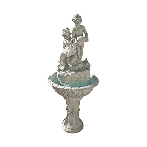 Water Fountain - 5 Foot Tall Portare Acqua Italian-Style Garden Decor Fountain - Outdoor Water Feature