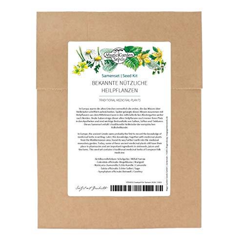 Plantas medicinales - kit de semillas con 5 hierbas con fuerzas curativas