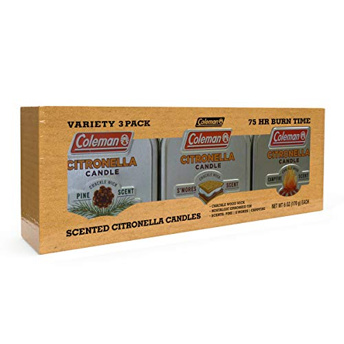 Coleman Scented Tin Citronella Candle - 3 Pack