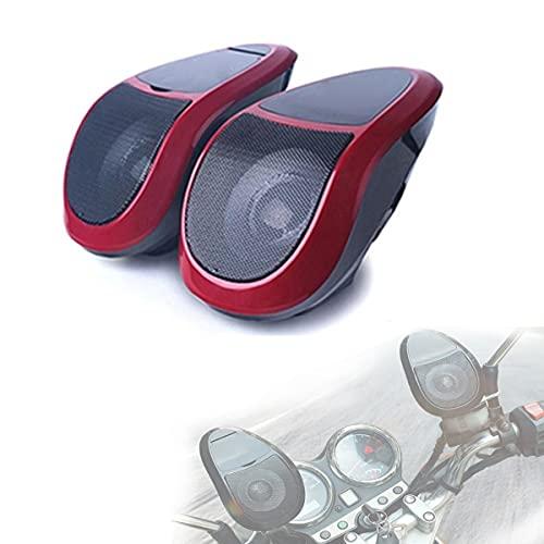 XZHFC 2 Unids Motorcycle Bluetooth Audio Audio Amplificador U Disk Stereo con FM Radio Light Scooter Multifunción Profesional Reproductor De MP3 Player