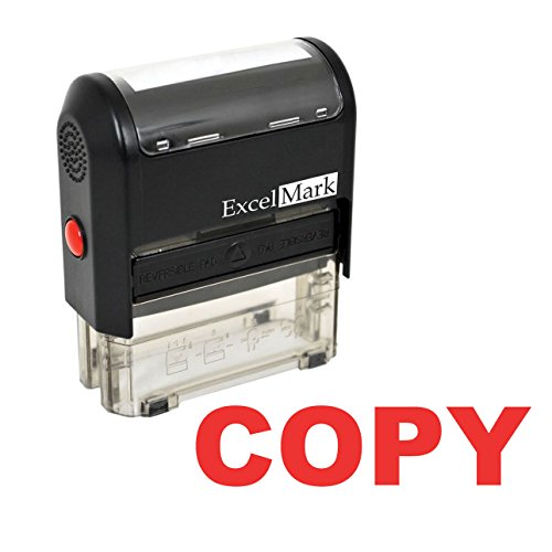 ExcelMark Copy Self Inking Rubber Stamp - Red Ink (Stamp Only)