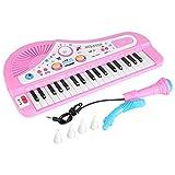 Yosoo Tastiera Elettronica Bambini Strumento Musicale Tastiera 37 Tasti con Gamba e Microfono Giocattoli Musicali per Regalo di Natale