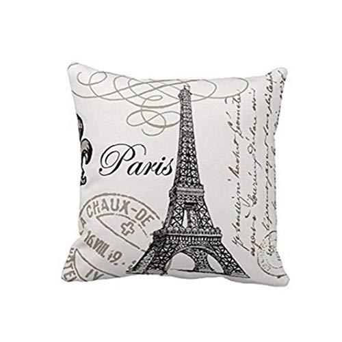 18x18 Pollice Parigi Torre Eiffel Stamp Di Tiro Del Cuscino Di Caso Divano E Letto Cuscino Home Decor Quadrato Di Disegno