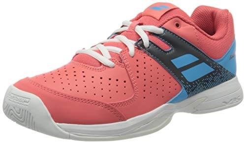 Babolat Kinder Pulsion Allcourt Junior Tennisschuhe Allcourtschuh Orange - Hellblau 36