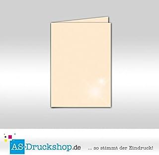 Faltkarte Doppelkarte - Ivory - mit Perlmutt-Glanz 50 50 50 Stück DIN A5 B0794XQJ8C  Die Farbe ist sehr auffällig 17a3ae