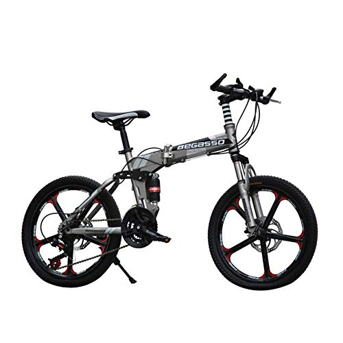 Buy Bargain LETFF Adult Folding Bicycle 20 inch Speed disc Brake Damping Mountain Bike