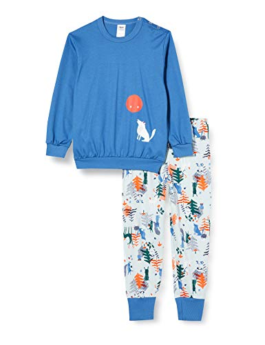 CALIDA Unisex Baby Toddlers Wolf Pyjamaset, Star Blue, 80