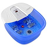Foot Spa Bath Massager with Heat, Bubble Jets, Detachable Pedicure Stone, Material box, Shiatsu Massage Rollers Adjustable Temperature Pedicure Tub to Relieve Feet Muscle Pain