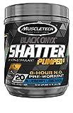 Pre Workout Powder | MuscleTech Shatter Pumped 8 Non-Stimulant Pre-Workout | PreWorkout for Men & Women | 8 Hour Nitric Oxide Booster Supplement | Blueberry Lemonade (20 Servings)