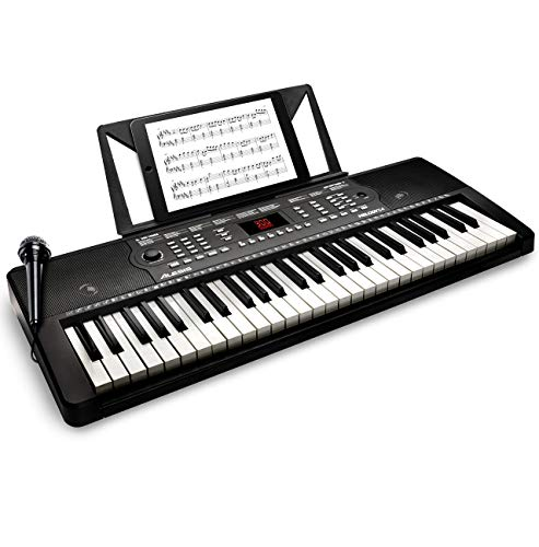 Alesis Melody 54 - 54-Key Portable Keyboard with Built-In Speakers, 300 Built-In Sounds, 300 Built-in Rhythms, 40 Demo Songs, Powerful Educational Tools, Microphone and Music Rest