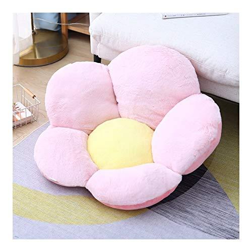 HOUMEL Cojín de flores, cojín de asiento, cojín para dormir, cojín de espalda, cama, juguete de peluche, gran comodidad, para regalo, dormitorio, salón 293 (color: rosa, tamaño: 75 x 40 cm)