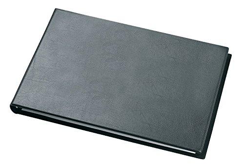 Veloflex 4131280 Ringbuch Exclusiv A3, Ordner, Hefter, Ringordner, Querformat, Lederoptik, schwarz