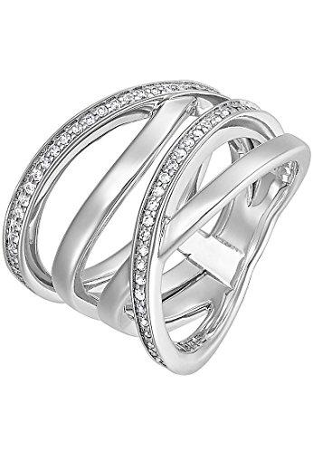 JETTE Silver Damen-Damenring Silber 54 Zirkonia 55 Silber 32005427