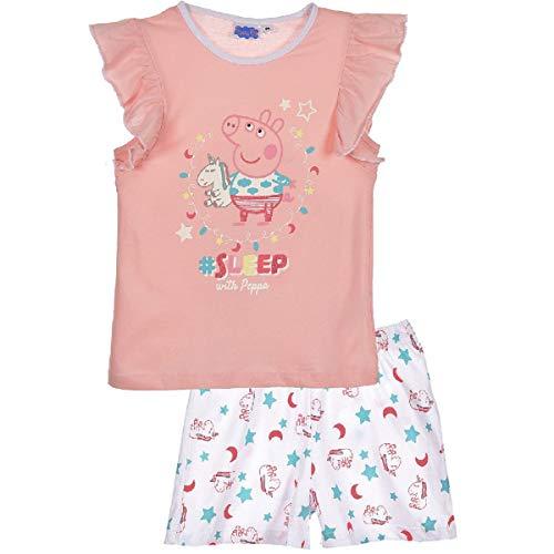 Peppa-Wutz Peppa Pig Pijama para niña, manga corta melocotón Medium