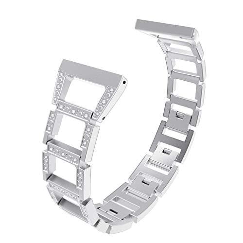 ibasenice Cinturini Compatibili con Fitbit Versa 2   Fitbit Versa Fitbit Versa Lite - Cinturino in Acciaio Inossidabile Squisito Cinturino di Ricambio con Strass Cinturino per Orologio da