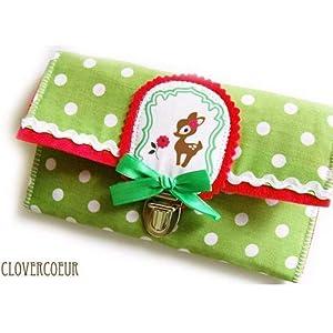 Geldbörse Reh Bebarella deer XL Portemonnaie pink grün