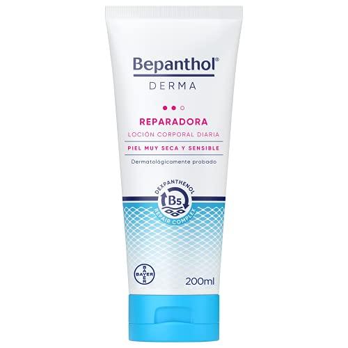 Bepanthol Derma Reparadora Loción Corporal, Hidratación Inmediata y Duradera para la Piel Muy Seca y Sensible, Uso Diario, 200 ml