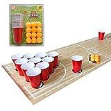 Set de 48 psc de Beer Pong - Entretenimiento Americano de Beber - Juegos de Beber para Fiestas - 24 Vasos Gigantes y 24 Pelotas para Cerveza Pong, Flip Cup o Uso Novedoso.