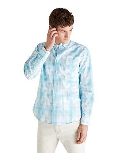 Cortefiel Oxford Intone Camisa Casual, Verde (Verde 24), L (Tamaño del Fabricante: L) para Hombre