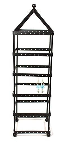 108 Pairs Tower Metal Black Color Earring Holder / Earring Tree / Earring Organizer / Earring Stand / Earring Display