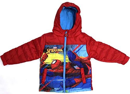 Spiderman Jacke Jungen Winterjacke 3 4 6 8 Jahre 98 104 116 128 cm rot (128)