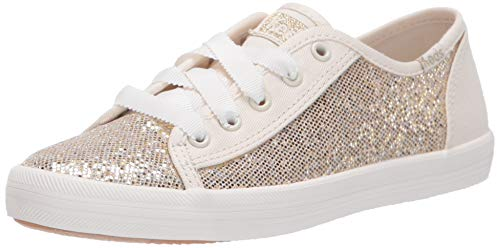 Keds Girls' Kickstart Seasonal Sneaker, Metallic Sparkle, 2 M US Little Kid