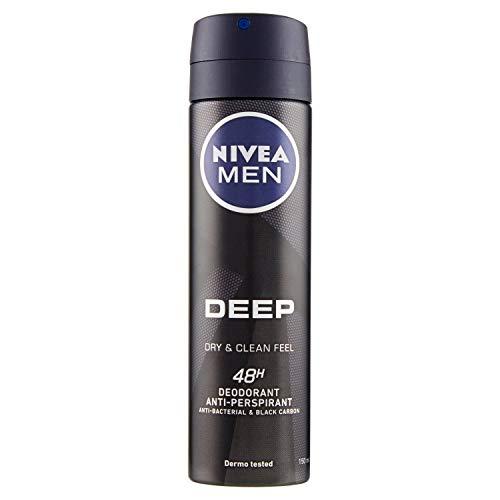 Nivea Men Deep Black Carbon Déodorant Vaporisateur 150ml