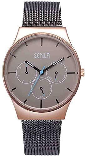 JZDH Mano Reloj Reloj de Pulsera Silver Banda de Malla de Acero Inoxidable Mujeres Reloj Movimiento de Cuarzo Reloj Femenino para Lienación Reloj Mujer Relojes Decorativos Casuales
