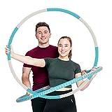 Strk Fitness Hula Hoop - Set di 8 pneumatici per adulti, rimovibili, in acciaio inossidabile, con pesi in schiuma, regolabili, larghezza 94 cm, con borsa per il trasporto