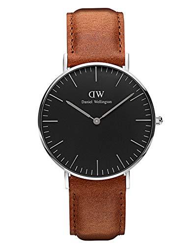 Daniel Wellington Unisex Analog Quarz Uhr mit Leder Armband DW00100132