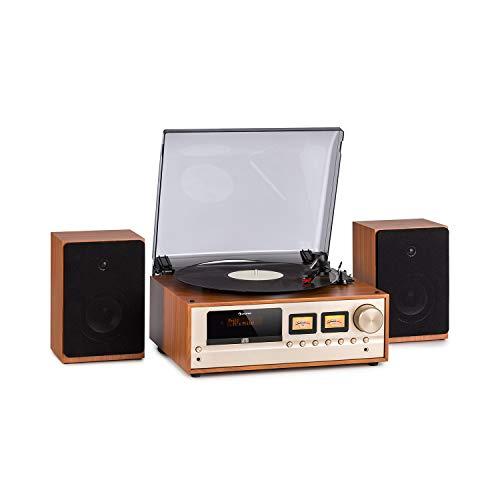 auna Oxford Equipo estéreo Retro - Sintonizador de Radio