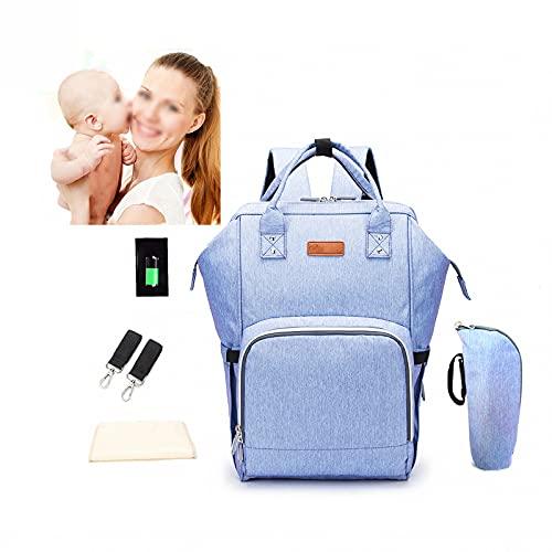AXTMR Bolso Cambiador de bebé portátil a Prueba de Agua, Bolso del Bebé Mamá multifunción de Hombro de Gran Capacidad, Bolso de pañales con Puerto de Carga USB,Purple,28 * 45 * 21cm