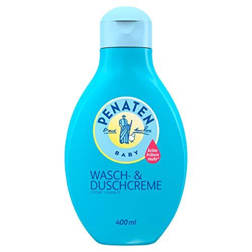 Penaten Wasch- & Duschcreme, mildes Baby Waschgel zur sanften Reinigung und Pflege für zarte Babyhaut (1 x 400ml)