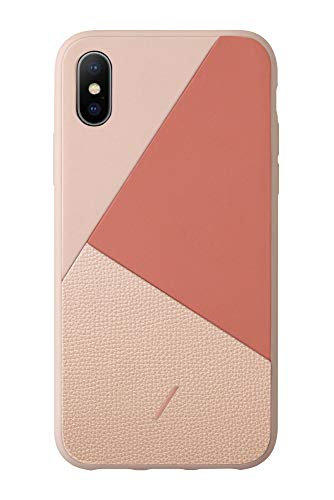 Native Union Clic Marquetry Hülle - Hülle aus italienischem Nappaleder - Kompatibel mit iPhone XS Max (Rosa)