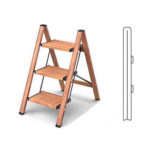 Escalera telescópica Plegable Paso plegable Escaleras multiusos 2 Escalones / 3 pasos de escalera, de aleación de aluminio Escalera Portátil Casa Jardín Seguridad en la Construcción ( Color : B )