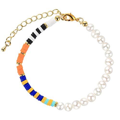 C·QUAN CHI Perle pour Bracelet Perles Naturelles Chaine Bracelet D'amitié Bijoux Faits à La Main pour Les Cadeaux Anniversaire Femme
