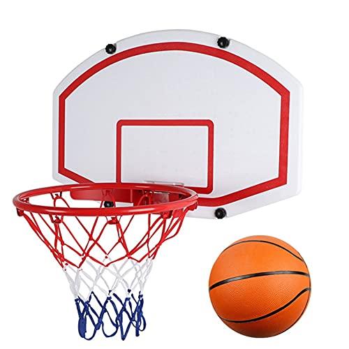 Reemplazo de red de baloncesto resistente 69 cm Tablero de baloncesto de tablero de espesor, soporte de baloncesto estándar, cubierto de baloncesto de pared interior y exterior Cesta colgante Aro de b