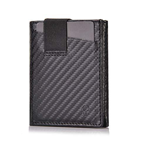 DONBOLSO Wallety 2 I Slim Wallet I 9 Kartenfächern I bis 13 Karten I RFID Schutz I echtes Leder I Mini Geldbörse in...