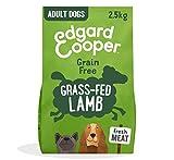 Edgard & Cooper pienso para Perros Adultos sin Cereales, Natural con Cordero Fresco, 2.5kg. Comida Premium balanceada sin harinas de Carne ni Carnes sobreprocesadas, cocinada a Baja Temperatura