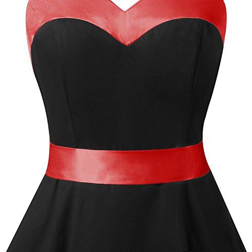 Neckholder Kleid Schwarz im Rockabilly 50er Jahre Vintage Stil - 5
