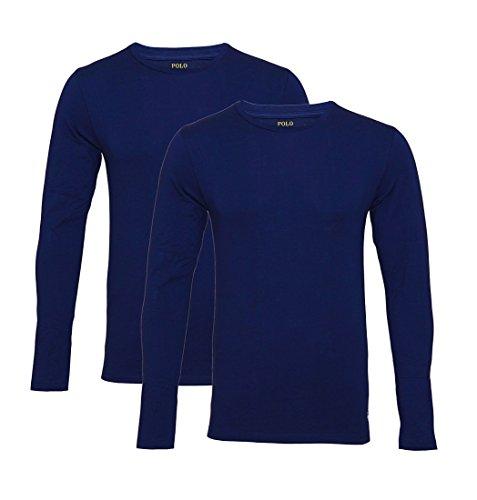 Ralph Lauren Maglia a maniche lunghe in jersey, confezione da 2 pezzi, NAVY/CRUISE NAVY SH17-RLL1, taglia L