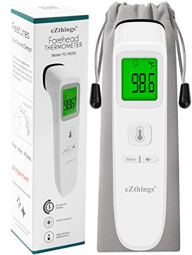 eZthings Forehead Thermometer Medical Non Touch Infrared with Fever Alarm